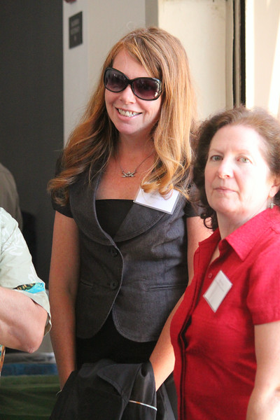 Marie Travers (left) of Bird Ally X and International Bird Rescue volunteer Mary Pierce