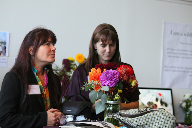 Wildlife Emergency Services' Rebecca Dmytryk (left) and Deanna Barth
