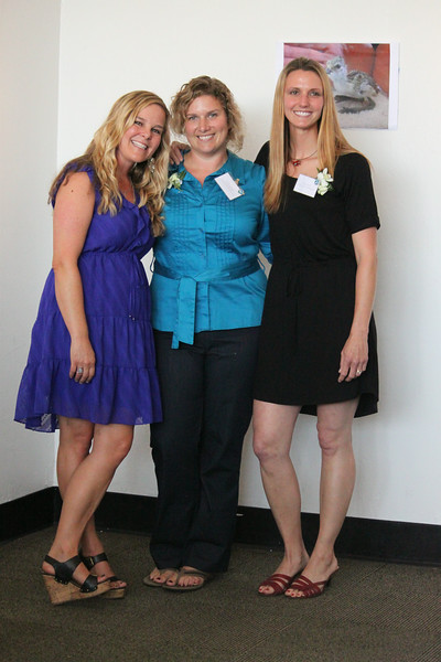 International Bird Rescue Los Angeles center team members Julie Skoglund (left), Erica Lander and Kelly Berry