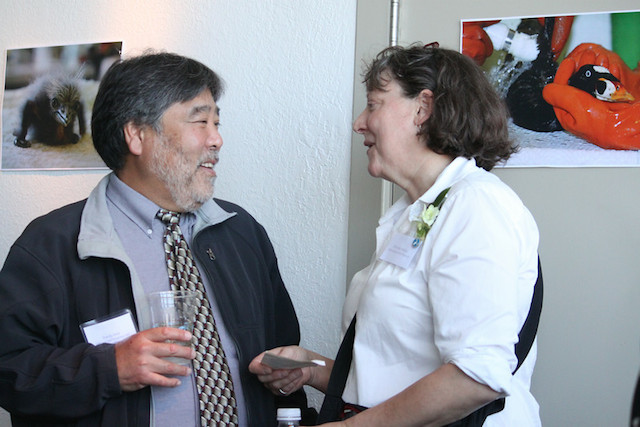 Randy Imai of the Office of Spill Response and Prevention, with Michelle Bellizzi