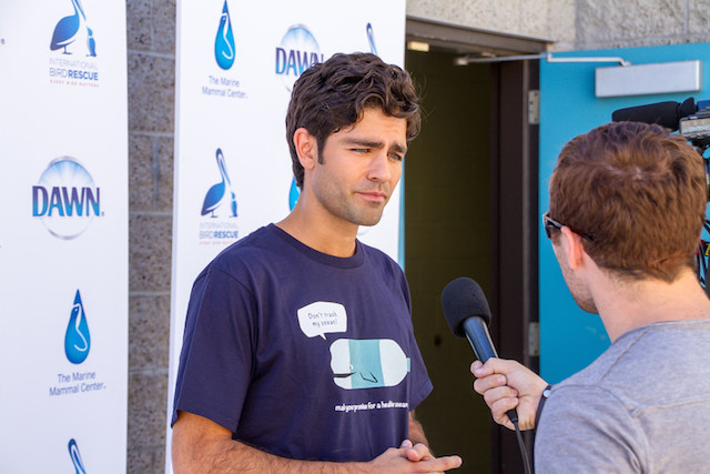 Adrian Grenier speaks on World Animal Day
