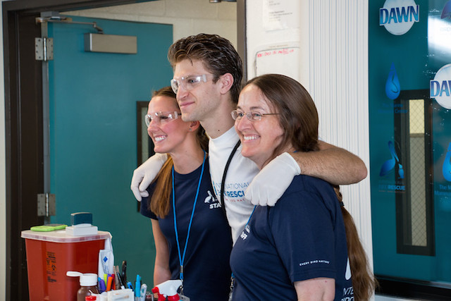 Keegan with Kelly Berry (left) and Dr. Rebecca Duerr