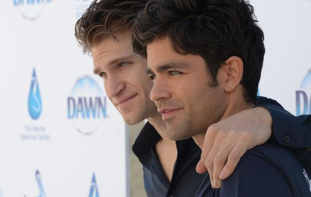 Keegan Allen and Adrian Grenier at International Bird Rescue
