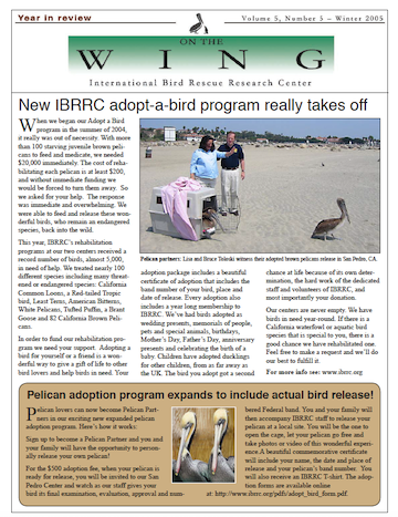 Download Winter 2005 PDF newsletter from International Bird Rescue