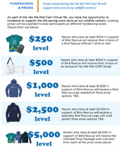 image of Yes We Peli-CAN 2021 Prize Levels at International Bird Rescue